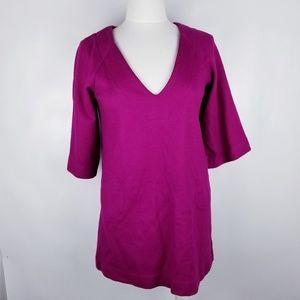 Diane Von Furstenberg Magenta Wool Blend Dress